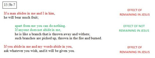 John 15:5b-7 Sub Unit